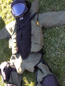 Picture of an EOD protective suit
