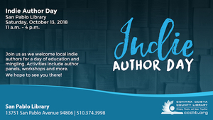 Graphic for Indie Author Day 2018 at the San Pablo Library