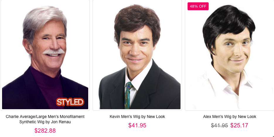 Wigs from the Best Wig Outlet website