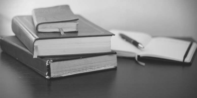 Research books and notebook