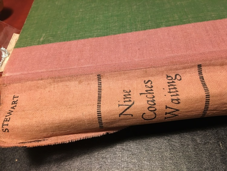 Image of the spine of an old book