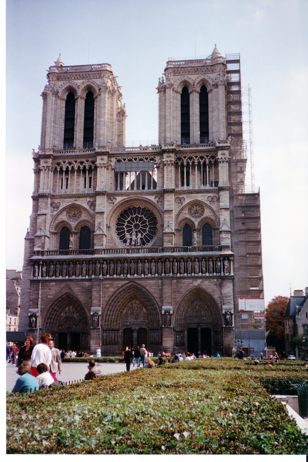 Front view of Notre Dame