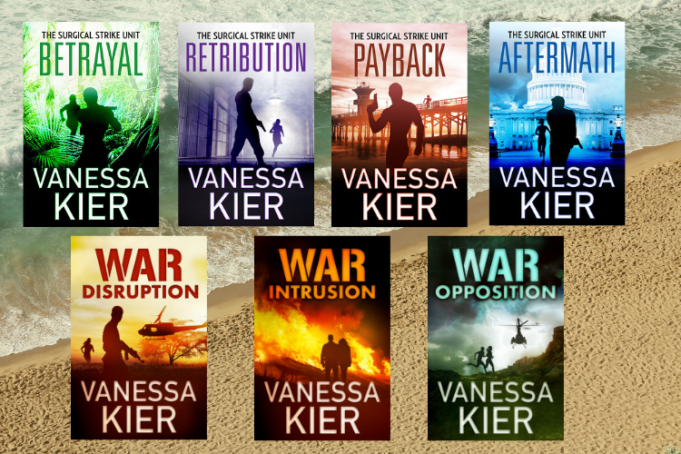 Ocean and beach with Vanessa Kier book covers