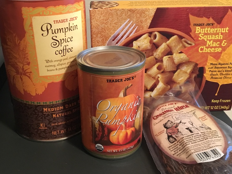 A selection of fall items from Trader Joe's
