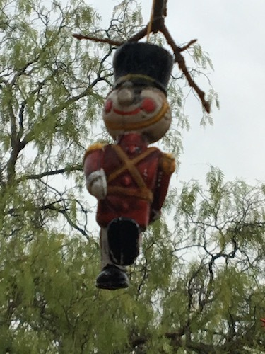 Photo of wooden marching soldier ornament