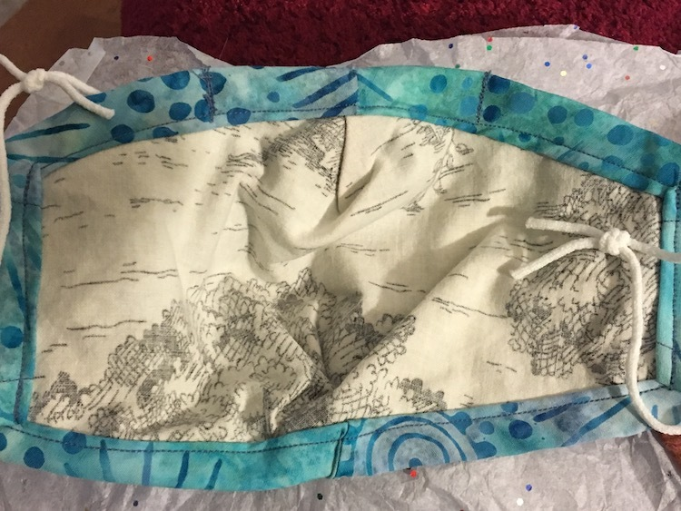 Inside of reversible cloth face mask