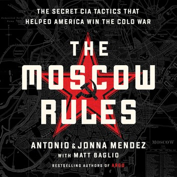Book cover: Black background. White text THE MOSCOW RULES over a red star